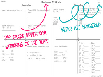Virginia Math SOL 1st Quarter Homework