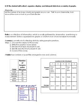 Virginia Math SOL 4.14 interactive notes (data & graphs)