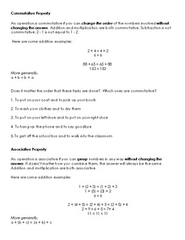 Virginia Math SOL 4.16 interactive notes (equality and properties)
