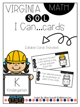 "Virginia Math SOL ""I Can"" Cards"