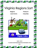 Virginia Regions File Folder Sorts