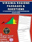 Virginia Regions Passages & Questions VS.2da-c, VS.10b {Di