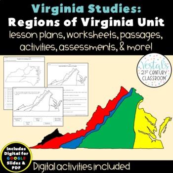 Virginia Regions Unit VS.2a-c & VS.10b {Digital & PDF Included}