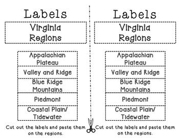 Virginia Regions cut and paste activity