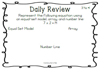 Virginia SOL 3.4a Daily Review/Exit Tickets