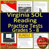 Virginia SOL ELA Test Prep Big Bundle Reading ELA Grades 6 - 8 TEI VA SOL