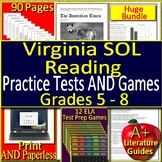 Virginia SOL Test Prep HUGE Bundle Reading ELA + Games - SELF-GRADING VA SOL