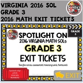 Virginia 2016 SOL Exit Tickets Grade 3 Math