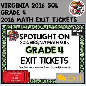 Virginia SOL Exit Tickets Grade 4 Math