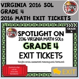 Virginia 2016 SOL Exit Tickets Grade 4 Math