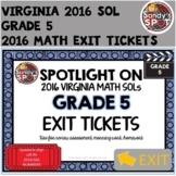 Virginia 2016 SOL Exit Tickets Grade 5 Math