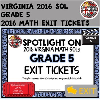 Virginia SOL Exit Tickets Grade 5 Math