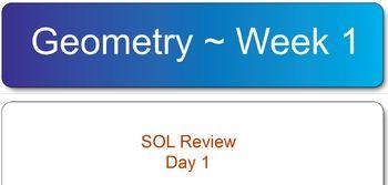 Virginia SOL Geometry Test Review Week 1
