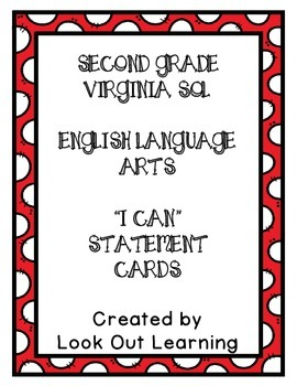 "Virginia SOL ""I Can"" Statements-English Language Arts-Seco"