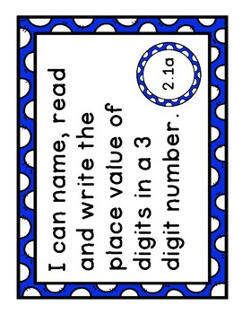 """Virginia SOL """"I Can"""" Statement Posters- Second Grade Math"""