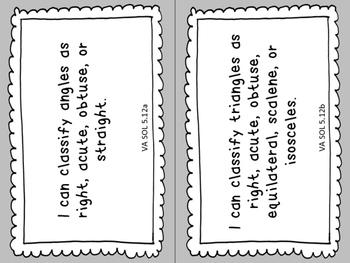 "Virginia SOL ""I Can"" Statements: 5th Grade MATH"