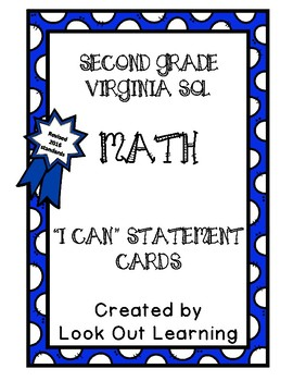 "Virginia SOL ""I Can"" Statements-Second Grade-Math"