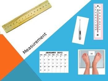 Virginia SOL Introduction to Measurement PowerPoint for Kindergarten