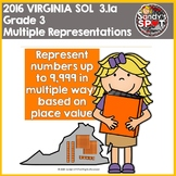 Virginia SOL MATH 3.1a Represent Whole Numbers in Multiple Ways