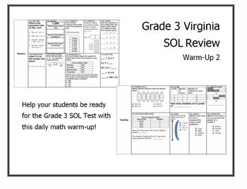 Virginia SOL Math Warm Up #2