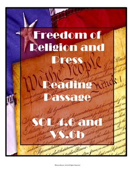 Virginia SOL Non-Fiction Reading Practice - Freedom of Press and Religion