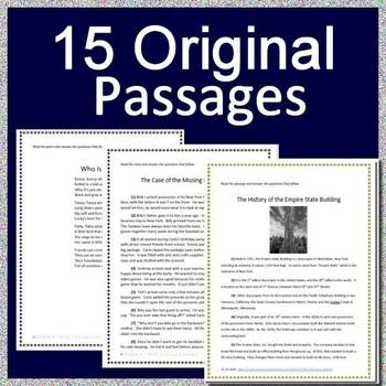 Virginia SOL Reading Test Prep Bundle - Grades 3 - 5 - Google Ready TEI items