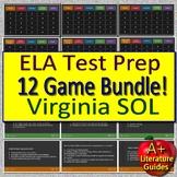 Virginia SOL Test Prep Reading ELA Review Games - 20 Game Shows VA SOL