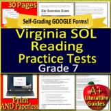 7th Grade Virginia SOL Test Prep Reading - TEI Grade 7 VA SOL - Google Ready