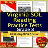 8th Grade Virginia SOL Test Prep Reading Practice TEI Grade 8 VA SOL