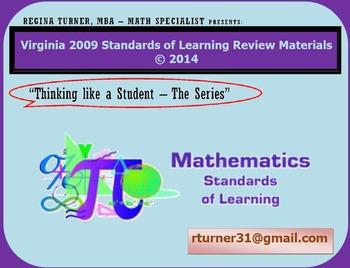 Virginia SOL Review TEIs Math Grade 6