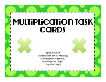 Virginia SOLMultiplication Task Cards
