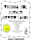 Virginia SOL Science Review cards-4th grade