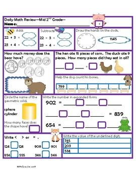 Virginia Mathematics Standards for Learning Mid 2nd Grade Math Review