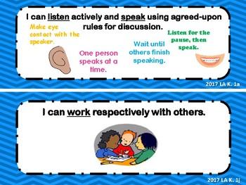 Virginia Standards of Learning Kindergarten Language Arts I Can Statements