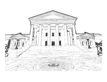 Virginia State Capitol Building Clip Art