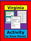 Virginia Hello USA Task Cards and Worksheet Activity