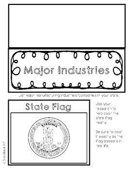 Virginia State Research Lapbook Interactive Project