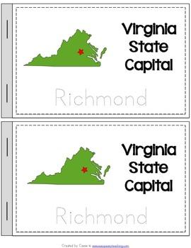 Virginia State Symbols Notebook