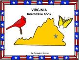 Virginia State interactive book grades pre-k - 2nd: autism