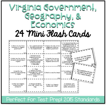 Virginia Studies 10: Government, Geography, and Economics