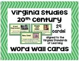 Virginia Studies - 20th Century Word Wall Cards