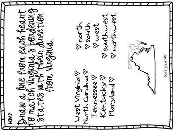 Virginia Studies 2abc- Bordering States, Regions, and Waters of Virginia