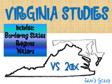 Virginia Studies 2abc- Bordering States, Regions, and Waters of Virginia