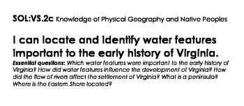 Virginia Studies 4th Grade VDOE Objectives