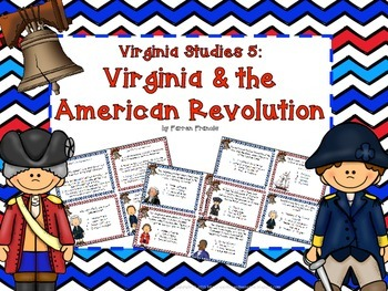 Virginia Studies 5: Virginia and the American Revolution Task Cards