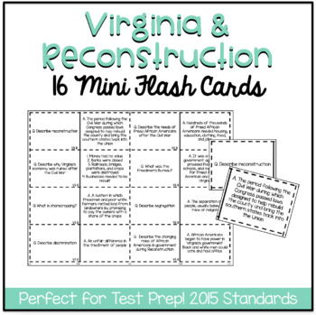 Virginia Studies 8: Reconstruction
