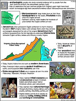 Virginia Studies Virginia Indians Study Guide and Test VS.2d,e,f,g