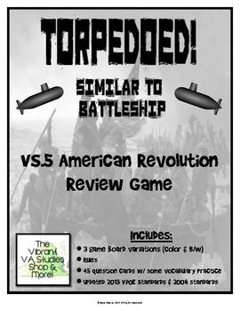 Virginia Studies American Revolution Torpedoed Game