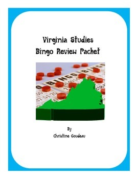 10 Virginia Studies SOL Bingo Games - ALL Units - 10 Games!