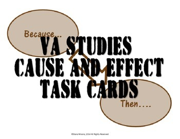 Virginia Studies Cause and Effect SCOOT / Task Cards